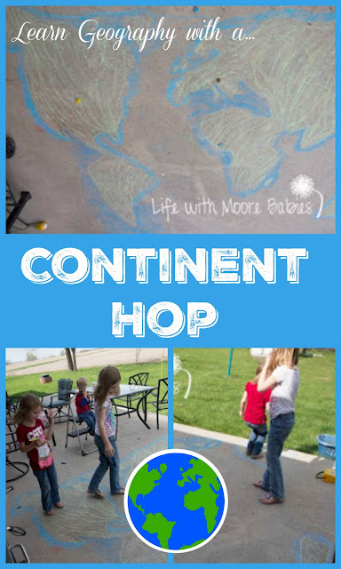 Outdoor Continent Hop: Learning World Geography in Motion