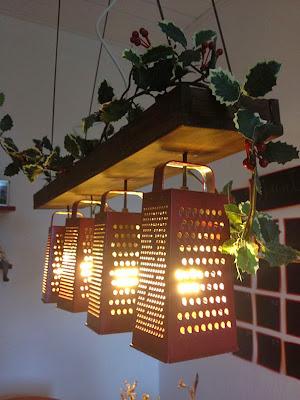 lampara para la cocina con ralladores.