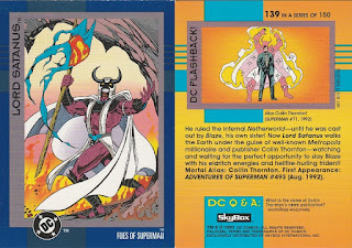 Lord Satanus trading card from DC Cosmic Teams set