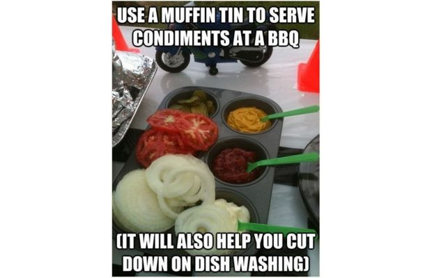 Use Muffin Tins for Condiments