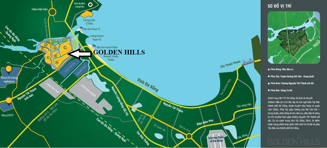 Vị trí dự án Golden Hills