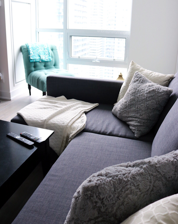 Comfy Couch - Ikea Couch and budget friendly living room - Tori's Pretty Things Blog