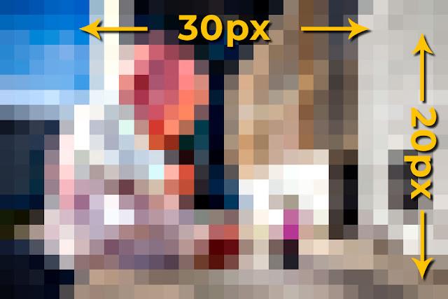 Recorte y ampliación de una foto de 20x30px