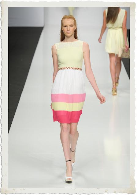 Sfilata PE2013 abito colori pastello Byblos
