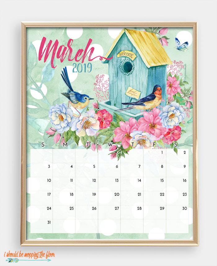 March Bird Calendar