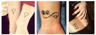 tatuagem de coração com infinito