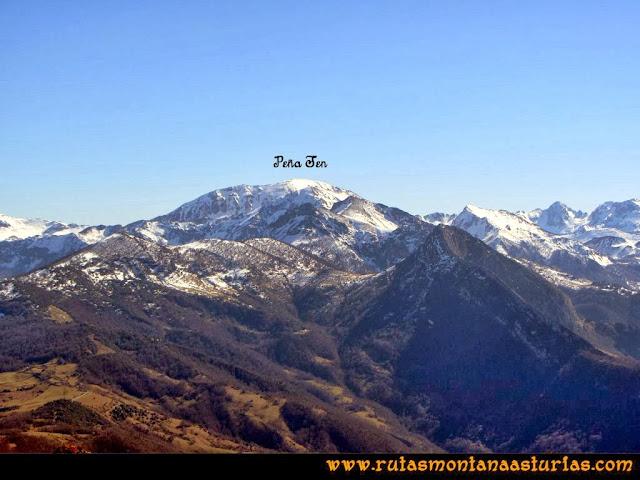 Ruta al Pico Pierzu: Vista de Peña Ten