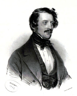 This portrait of Gaetano Donizetto was painted by Joseph Kriehuber in 1842