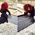 Photogist: Denrele Visits His Late Bestie, Goldie's Grave