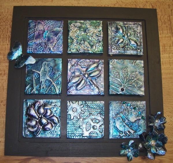 My Take On Craft Metal Embossed Tiles