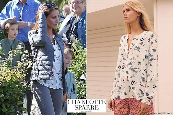 Princess Marie wore Charlotte Sparre shirt blouse Sea life white