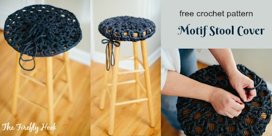 Motif Stool Cover - Free Crochet Pattern from Guest Contributor on My Hobby is Crochet Blog