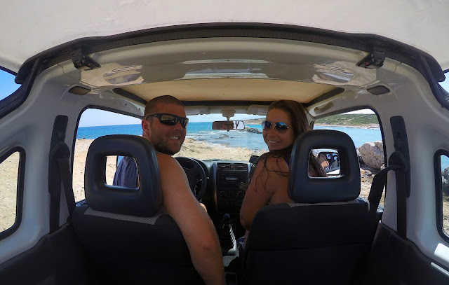 Couple Exploring Paros Island by Car