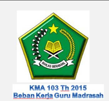 KMA 103 Th 2015 Beban Kerja Guru Madrasah