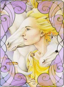 Ilustração da Deusa Rhiannon