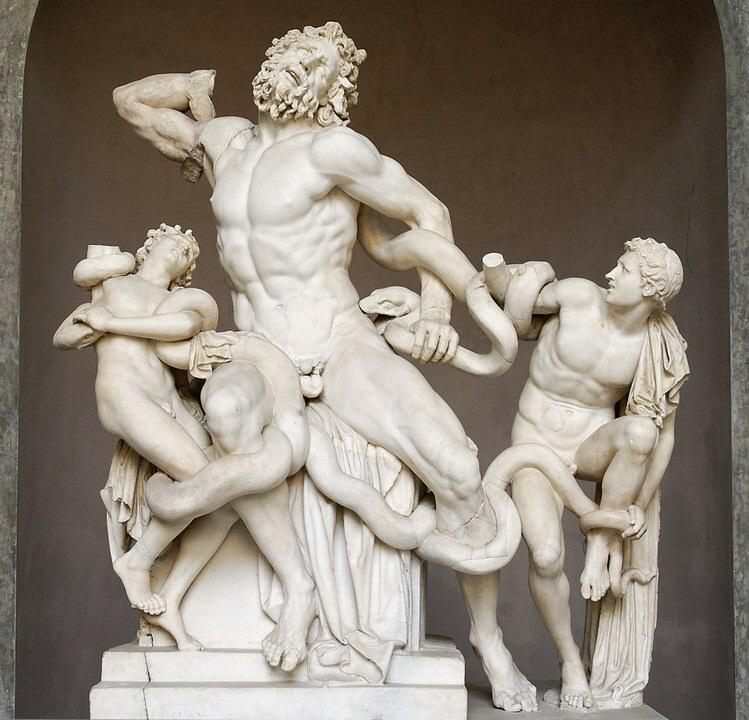 Ο Λαοκόων και οι γιοι του. Μαρμάρινο αντίγραφο ενός ελληνιστικού πρωτότυπου από το Ελληνιστικό πρωτότυπο του 200 π.Χ. Βρέθηκε στα λουτρά του Τραϊανού το 1506.