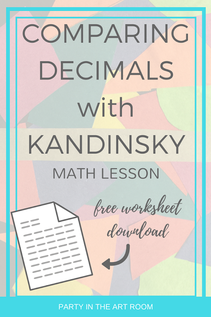 comparing decimals with kandinsky math art