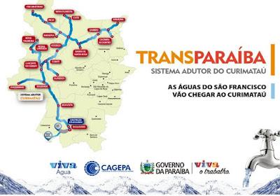 19 municípios da Paraíba serão beneficiados com o Sistema Adutor TransParaíba