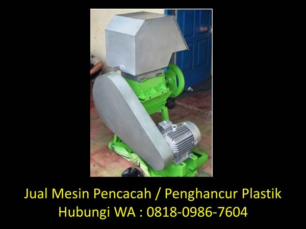 daur ulang plastik menjadi mesin di bandung