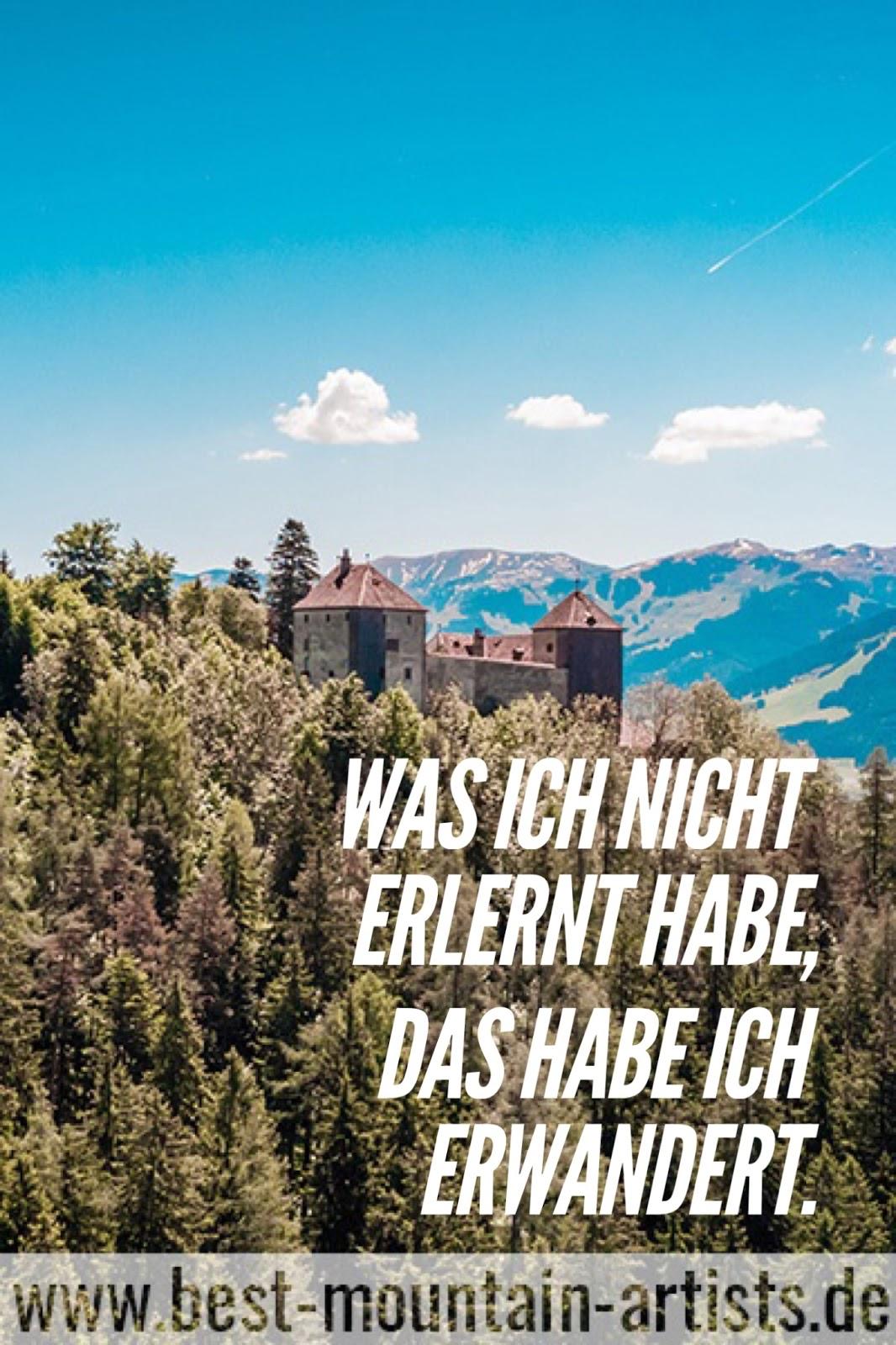 """""""Was ich nicht erlernt habe, das habe ich erwandert."""", Johann Wolfgang von Goethe"""