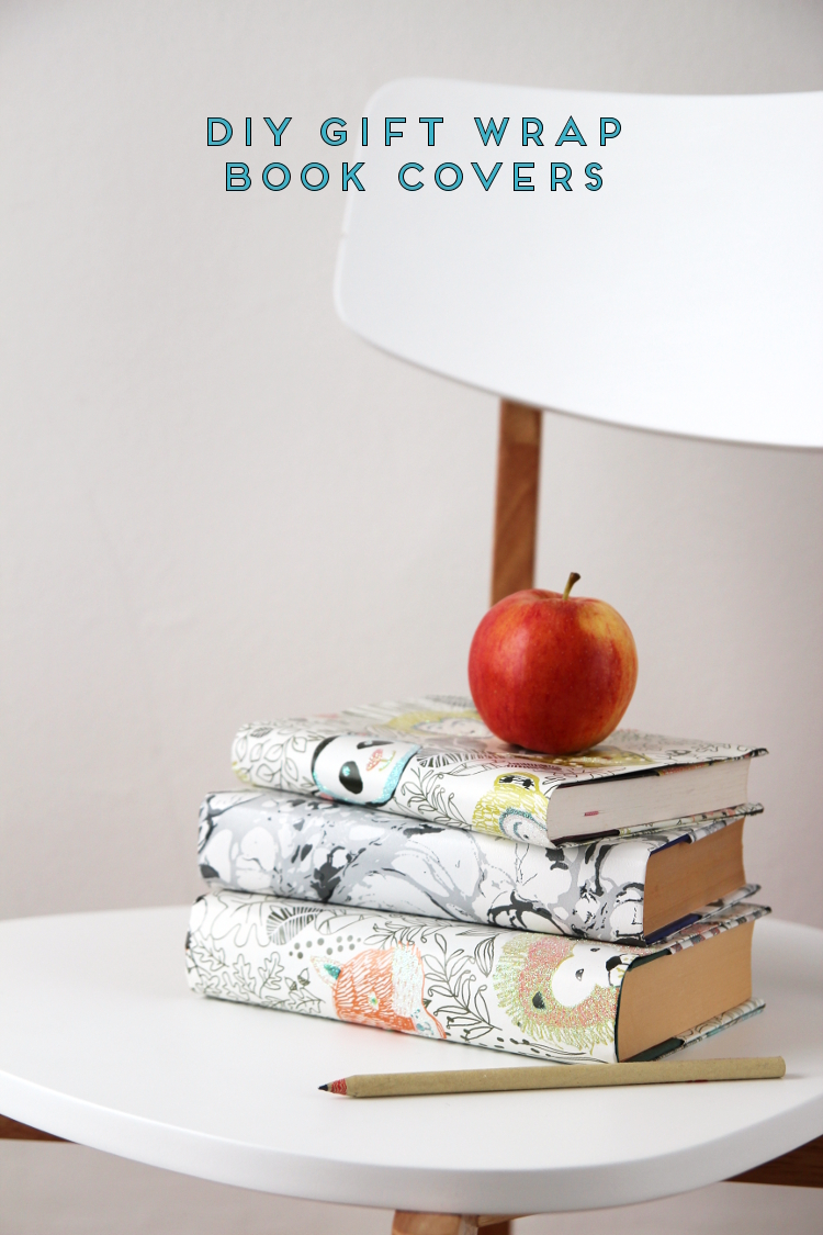 How To Wrap A Book Cover In Paper : How to make your own gift wrap book covers gathering beauty