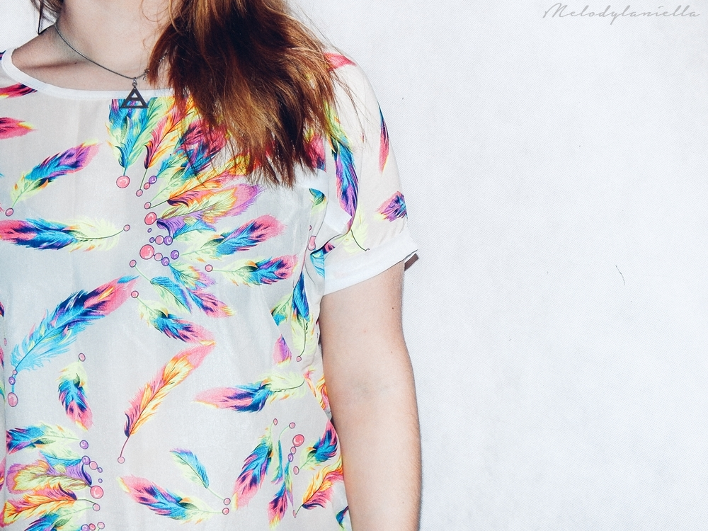 bluzka w piorka szyfon piora jakosc ubran dresslink moda style zestaw koszulka tshirt fashion fashionist