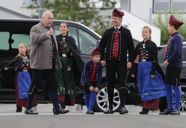 Crown Princess Mary, Prince Christian, Princess Isabella, Princess Josephine and Prince Vincent visited Bakkafrost