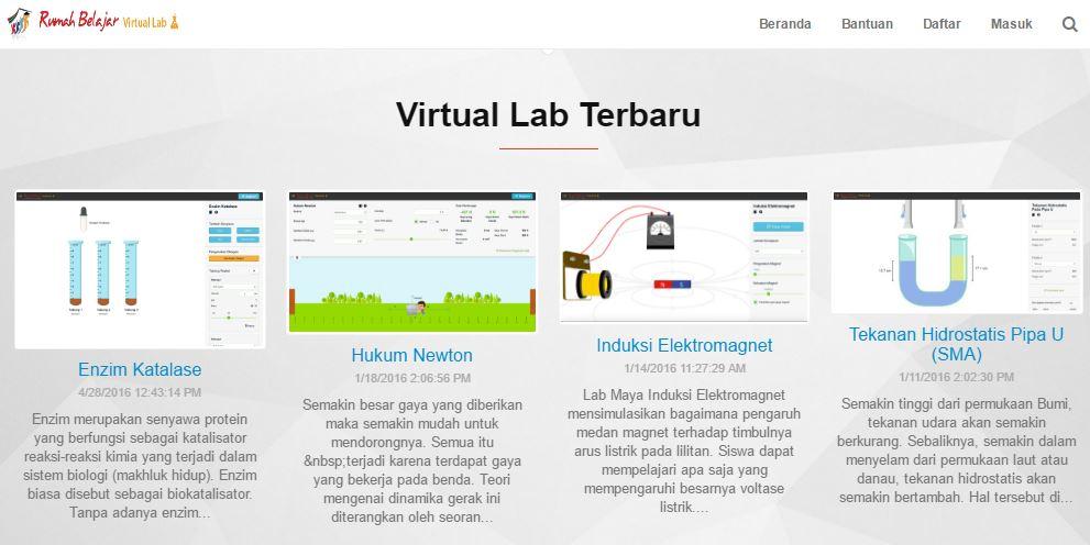 Cara Menggunakan Laboratorium Maya (Virtual Lab) Kemdikbud