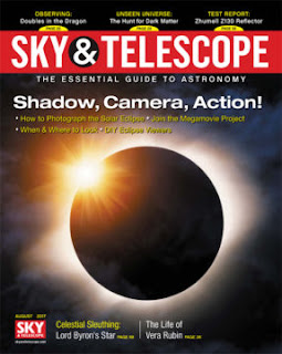 Sky & Telescope magazine cover August 2017