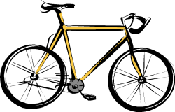 bicyclette ou vélo (dessin)