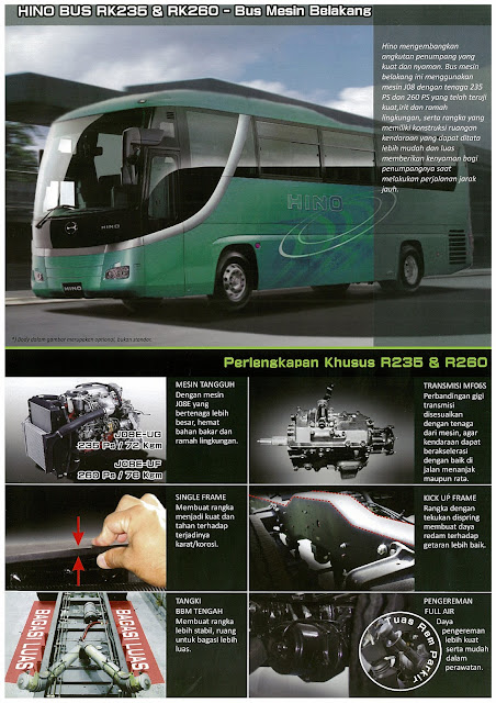 brosur bus hino rk 235