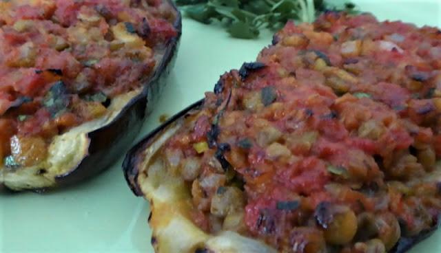 melanzane alla turca con lenticchie