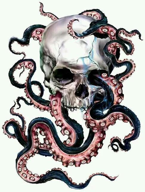 Amazing Octopus and Skull Tattoo Designs