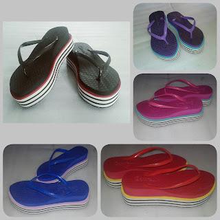 Sandal Spon Pelangi (Sandal Fashion Wanita)