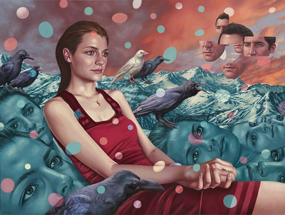 "por Alex Gross - ""Memory Fragments"", 2015. 