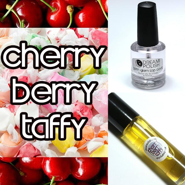 Dream Polish Cherry Berry Taffy Gem Glow Cuticle