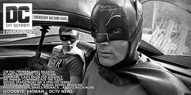 Adam West as Batman in the Batmobile