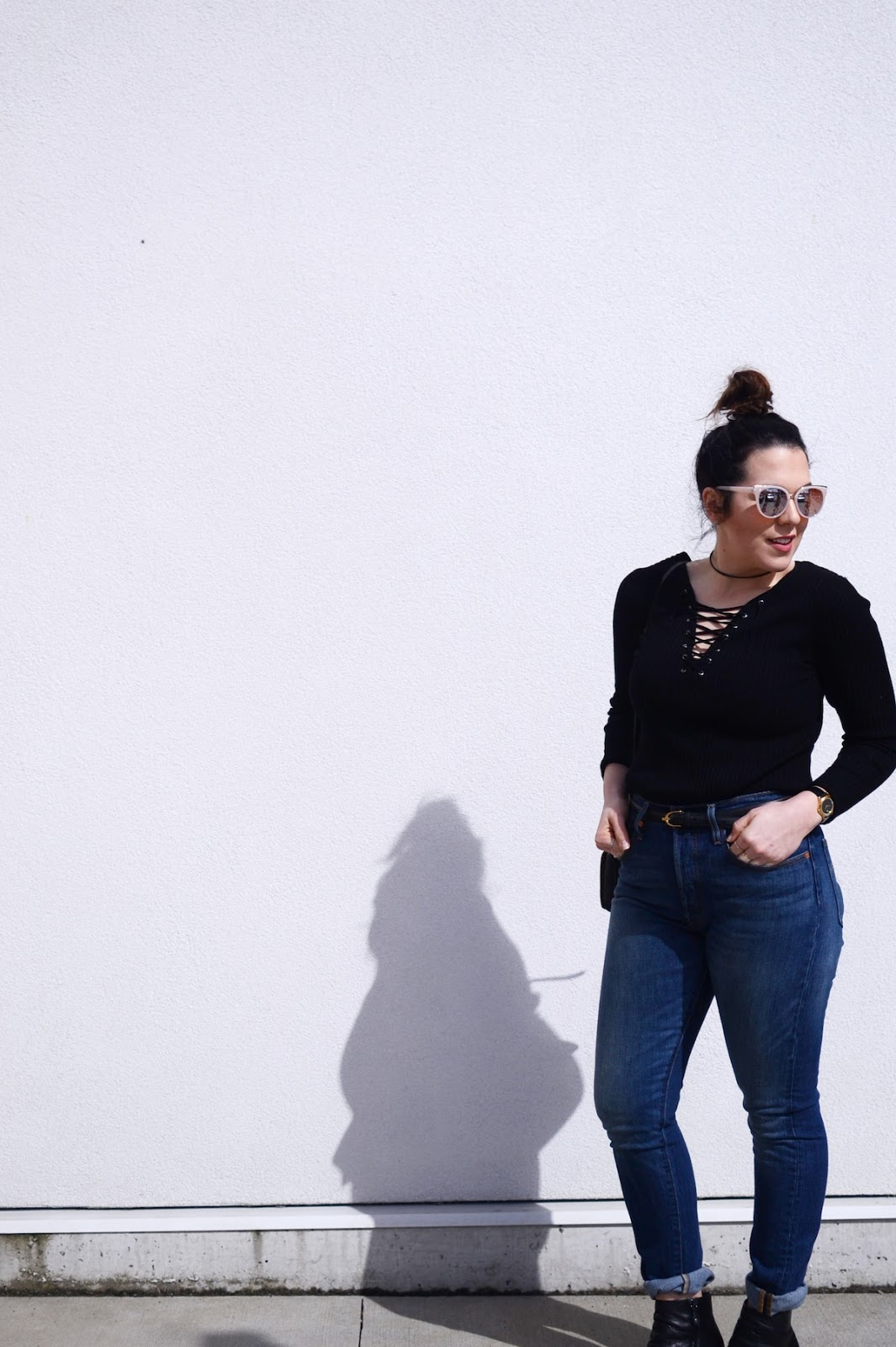 Levi's 501 skinny jeans outfit vancouver fashion blogger