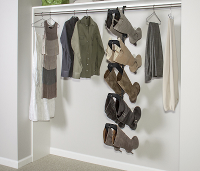 boot hanger system for a closet