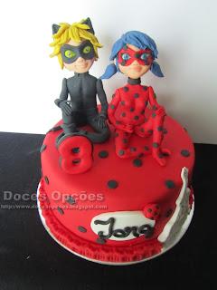 Bolo de aniversário Miraculous: As Aventuras de Ladybug