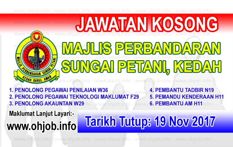 Jawatan Kerja Kosong Majlis Perbandaran Sungai Petani logo www.ohjob.info november 2017