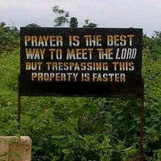 Check Out This Warning Sign Seen In Ogun State