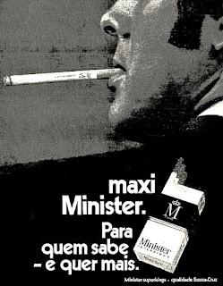 cigarros Minister, 1971. propaganda anos 70; história decada de 70; reclame anos 70; propaganda cigarros anos 70; Brazil in the 70s; Oswaldo Hernandez;