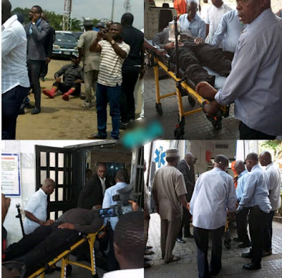 Image result for Senator Dino Melaye rearrested in Hospital After attempting to Escape Police Custody in Abuja