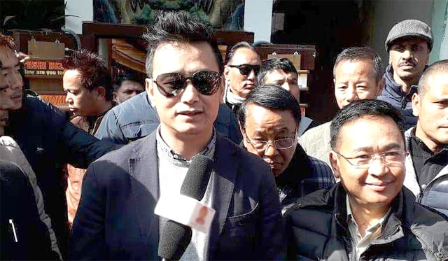 PS Goley and Bhaichung Bhutia meeting