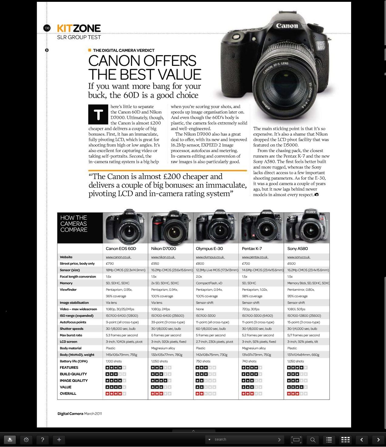 TEREPSZEMLE: Öt dslr fényképezőgép összehasonlító tesztje