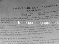 Soal OGN Guru SD Tahun 2017