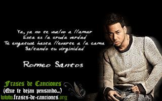 Frases machistas de la canción Perjurio de Romeo Santos virginidad