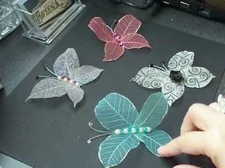 ديكورات هيكل أوراق النباتات