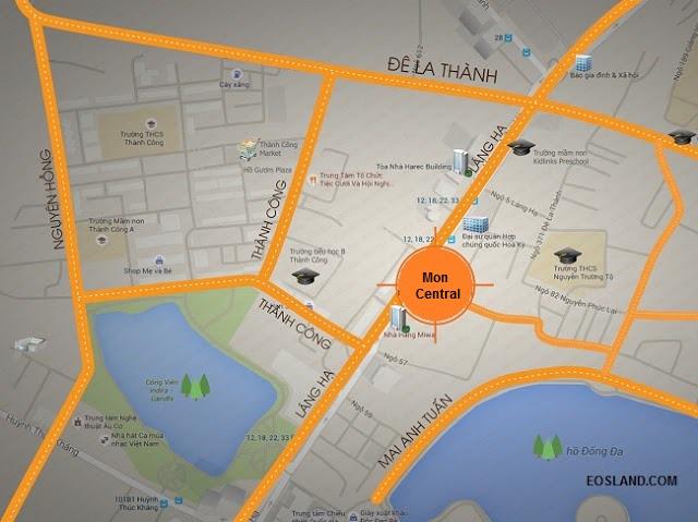 Vị trí Mon Central 29 Láng Hạ